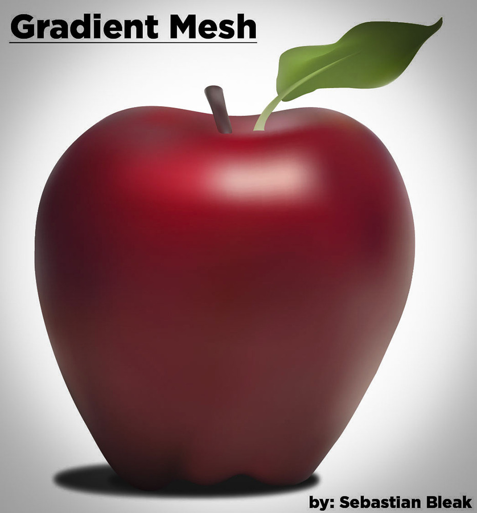Vector Apple with Gradient Mesh in Adobe Illustrator CS6