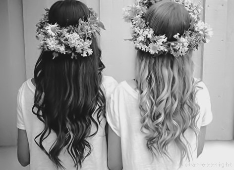 photography hair black and white fashion style hipster in flower flowers flower headband bw