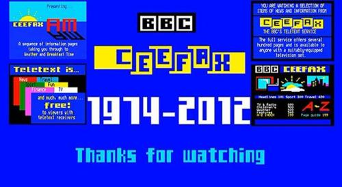 RIP Ceefax - You Did Good Buddy :D
