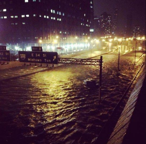FDR Drive is underwater