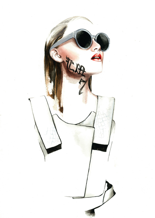 weareselecters:</p><br /> <p>Ricardo Dourado SS13 fashion illustration by António Soares.<br /><br />