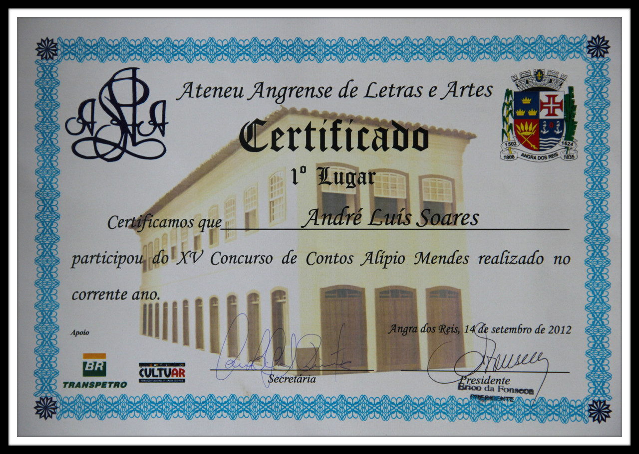 XV Concurso Alípio Mendes de Contos.