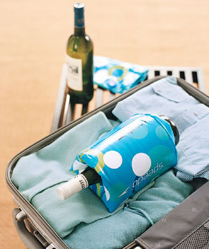 Kids' Floaties as Wine Bottle Protectors (via New Uses for Old Things: Kids Edition - Real Simple)