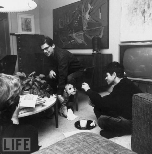 Allen Ginsberg and Gregory Corso