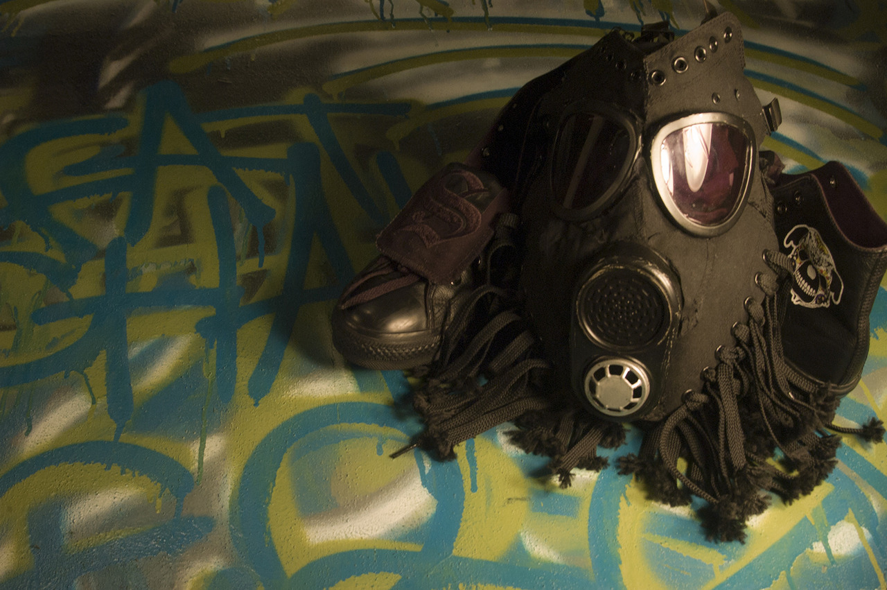 Gasmask by Freehand Profit shot by Sebastian Bleak