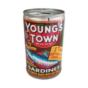 Youngs town Sardines in Tomato Sauce Extra Hot 155 g