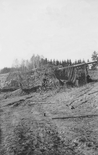 1. Camouflaged  244th 155 mm Long Tom.  February 1945, Two days prior to going into the Siegfried Line