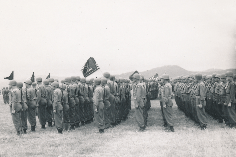72. At attention Cham Germany, 10 May to 11 July 1945, Parade Day