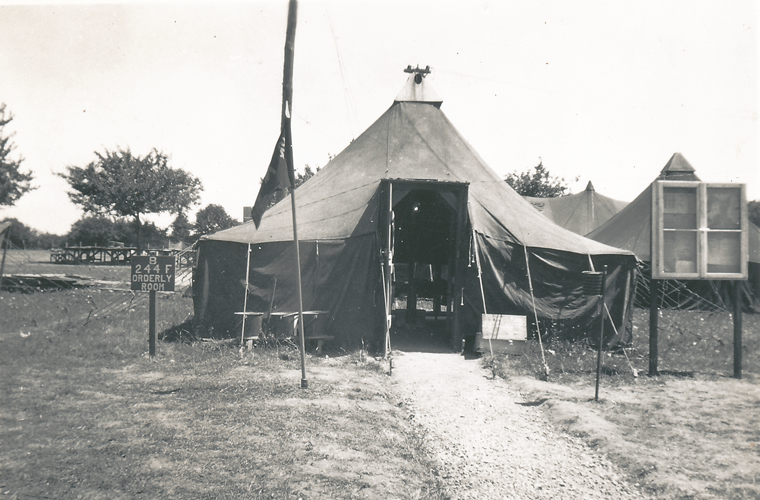 99. Baker Battery 244th F.A. Orderly tent, Le Mans France, Post War 1945
