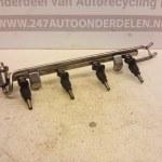 3 6E1 B / 0 280 155 897 Injectorrail Met Injectoren Audi TT 1.8 Turbo AJQ 180 PK
