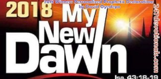 2018 Winners Personalized Prophetic Declarations by David Oyedepo