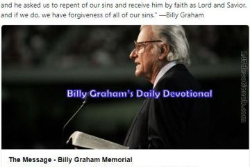 Billy Graham March 25, 2018