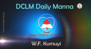 DCLM Daily Manna 31 March, 2018