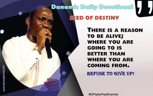 Seed Of Destiny For Today - Friday 15th June 2018