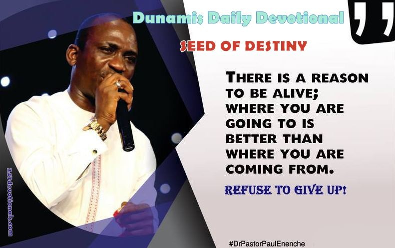Seed Of Destiny Devotional Sunday 12 August 2018