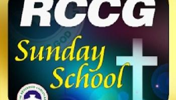 RCCG Sunday School TEACHER's Manual 21 July 2019 – The