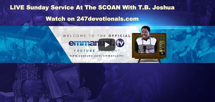 LIVE Streaming SCOAN With T.B. Joshua Sunday Service At The (01/04/18)