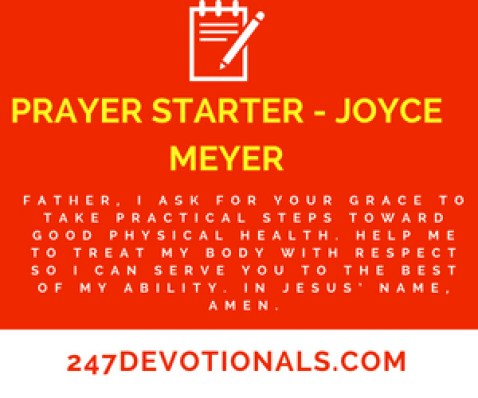 PRAYER STARTER - JOYCE MEYER