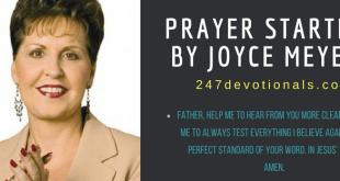 Prayer Starter Joyce Meyer