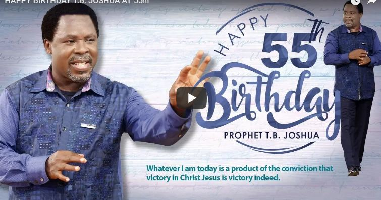 Prophet TB Joshua at 55