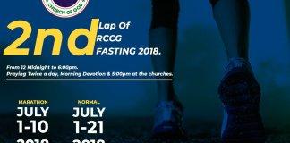 rccg July Fasting Prayer Points