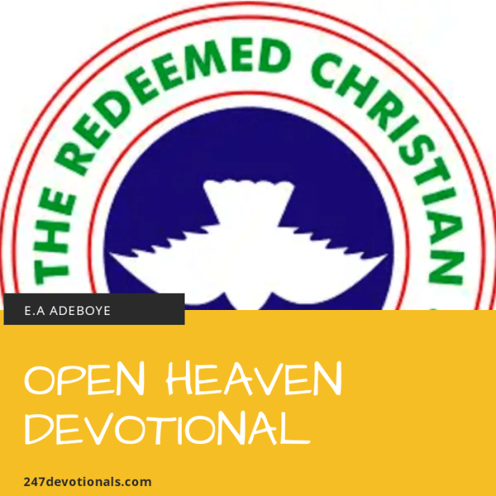 Today open heaven devotional