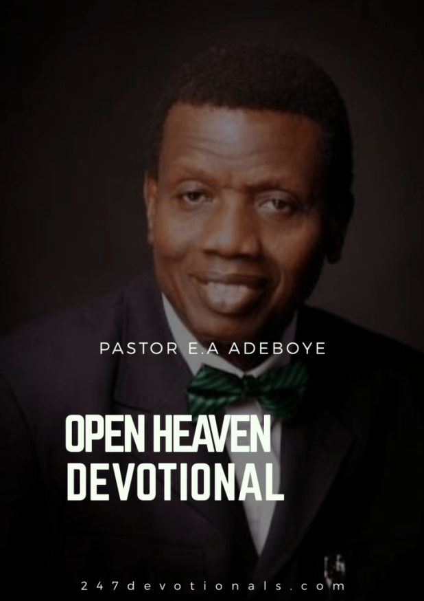 Open Heavens 4 September 2018