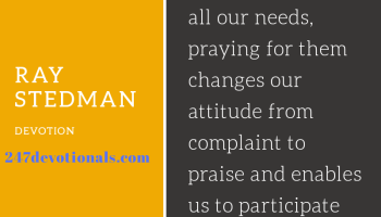 Devotional by Ray Stedman for September 7 - Total Wipeout