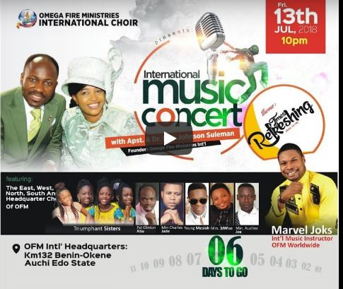 OFM Int'l music Concert Live With Apostle Johnson Suleman
