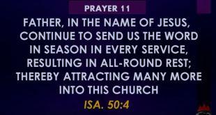 Winners church Prayers