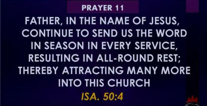 Prayer 11 Winners church Prayers