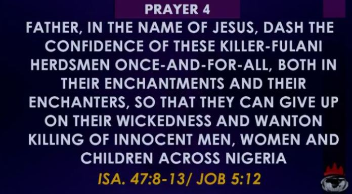 Winners Prayer four Towards Rescue of Nigeria