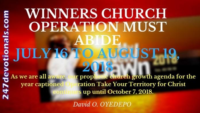 Winners Operation Must Abide