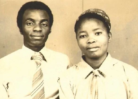An adorable photo of a much younger David Oyedepo and wife 247dvotionals.com-