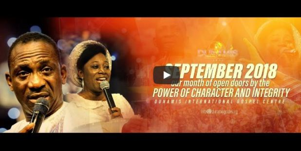 Dr Paul Enenche SEPTEMBER 2018 PRESERVATION AND POWER