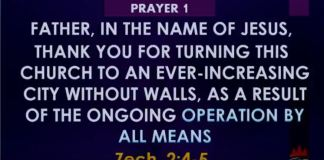 Prayer 1 Winners Church Live