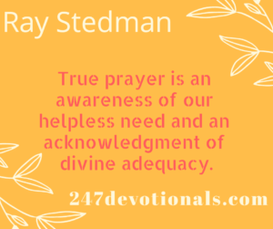 Ray Stedman devotion