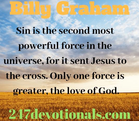 Billy Graham devotion
