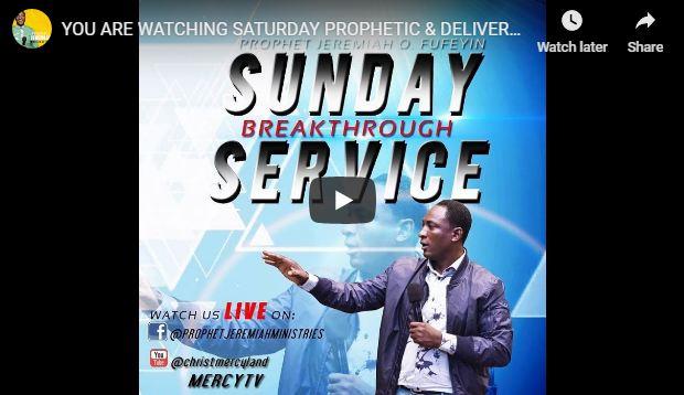 LIVE STREAM SATURDAY PROPHETIC & DELIVERANCE Christ Mercyland