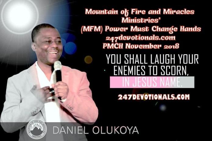 MFM Power Must Change Hands PMCH November 2018 Dr. Daniel Olukoya