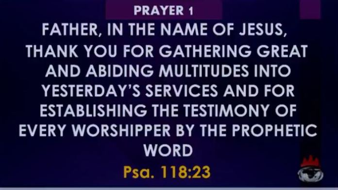 Winners Covenant Hour of Prayer 22nd October 2018 Bishop Oyedepo
