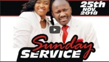 Live with Apostle Johnson Suleman Sunday Service 25th September 2018