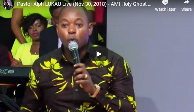 Pastor Alph LUKAU Live Nov 30 2018