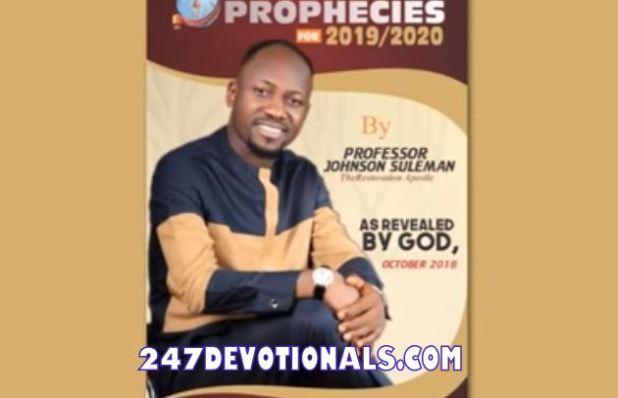 Apostle Johnson Suleman prophecies for 2019