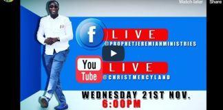 Christ Mercyland Live Streaming THURSDAY SERVICE Christ Mercyland Live Streaming THURSDAY SERVICE Prophet Jeremiahrophet Jeremiah