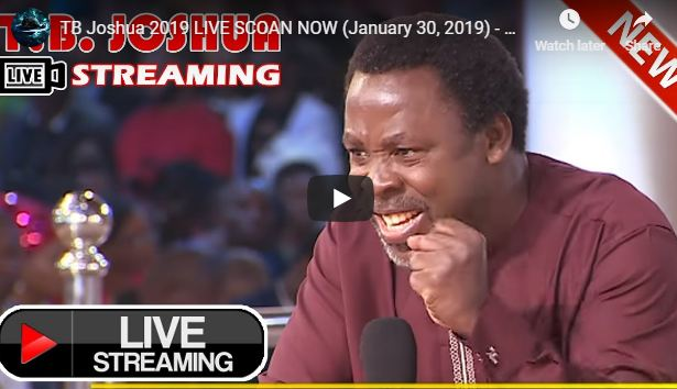 TB Joshua 2019 LIVE SCOAN NOW (January 31, 2019) - LOVE GOD ABOVE