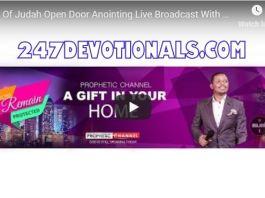Lion Of Judah Open Door Anointing Live Broadcast With Major 1