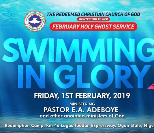 RCCG February 2019 Holy Ghost Service Swimming In Glory 2