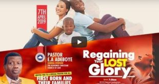 RCCG NATL. HQ APRIL 2019 THANKSGIVING SERVICE