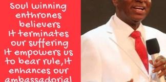 10 Benefits of Soul Winning David Oyedepo